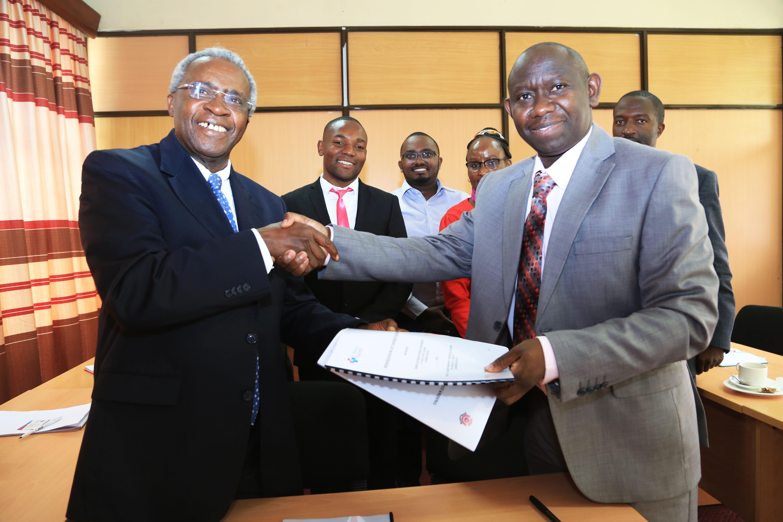 Amref International University (AMIU) signs Training Partnership with St. Mary's Hospital